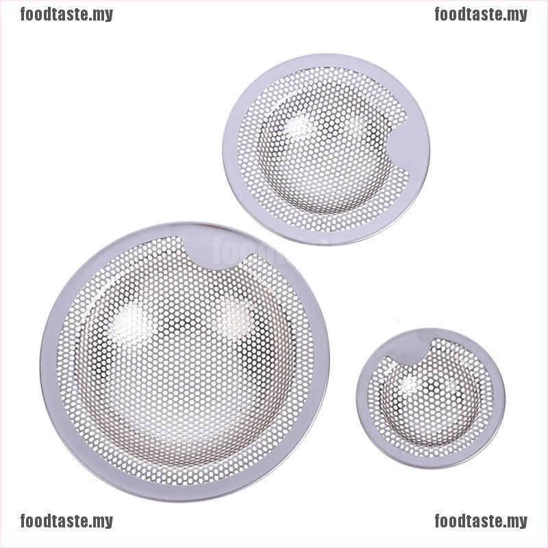 【 Foodtaste 】 3 尺寸不銹鋼水槽過濾器排水孔過濾器網排水