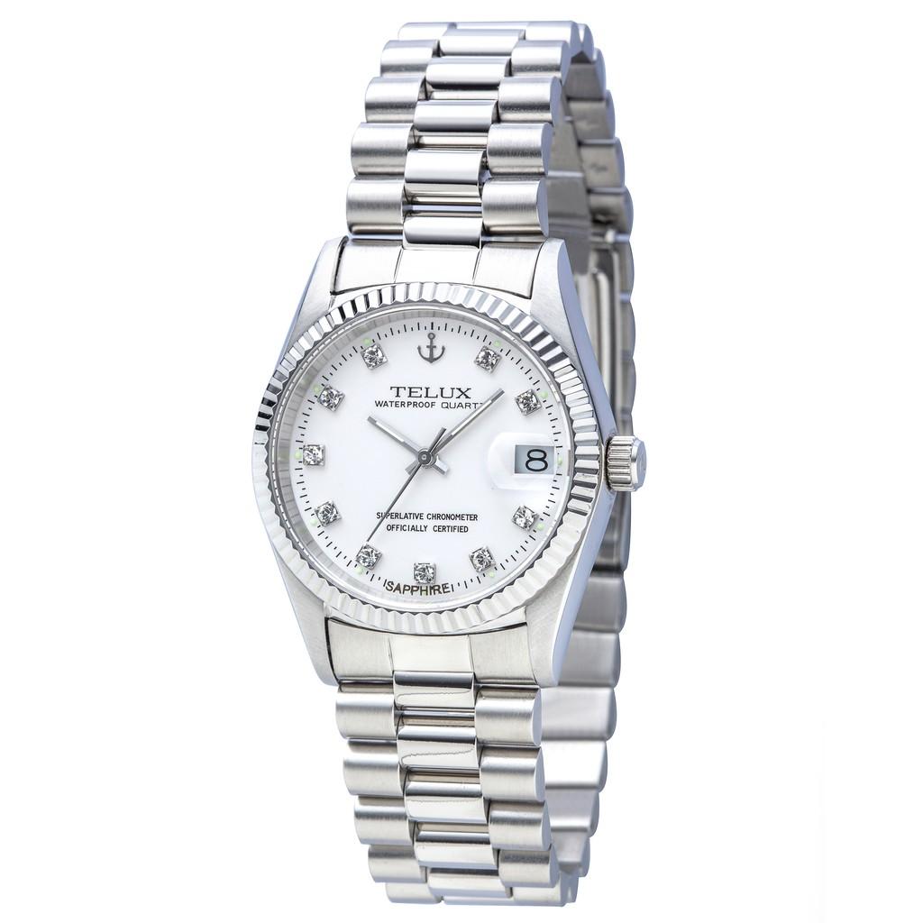 (缺貨中)台灣品牌手錶腕錶【TELUX鐵力士】尊爵系列經典腕錶36mm-另有女款 台灣製造石英錶7910W-W01