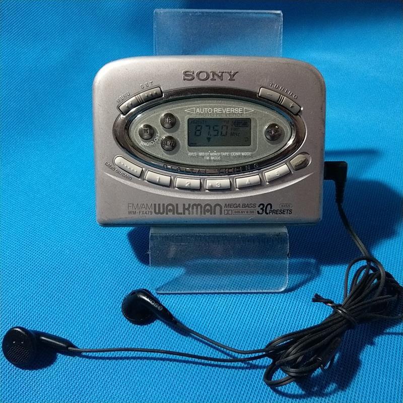 【懷舊CD機隨身聽】索尼立體聲沃克曼磁帶機隨身聽WM-FX479觸控按鍵高靈敏度收音