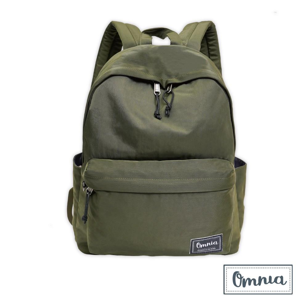 【OMNIA】日系休閒尼龍NB後背包 經典款學生後背包(橄欖綠)