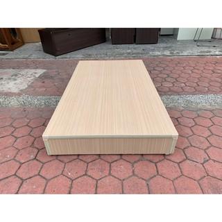 香榭二手家具*白橡色單人加大3.5x6.2尺 三分板床箱-床板-床檯-床底-單人床-床架-床組-床框-中古寢具-套房家具 臺中市