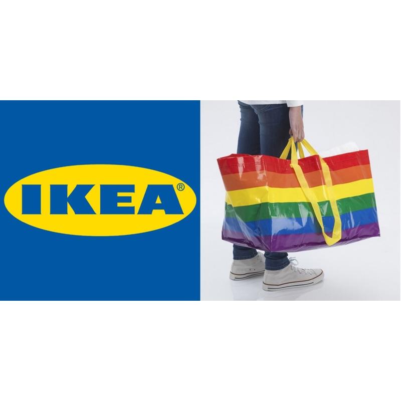 IKEA kvanting 彩虹購物袋 彩虹提袋 限量商品