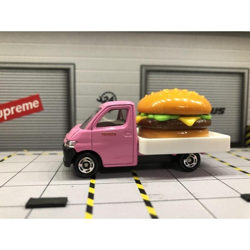 TOMICA NO.97 TOYOTA TOWN ACE TRUCK粉紅色漢堡車(螺絲底盤)