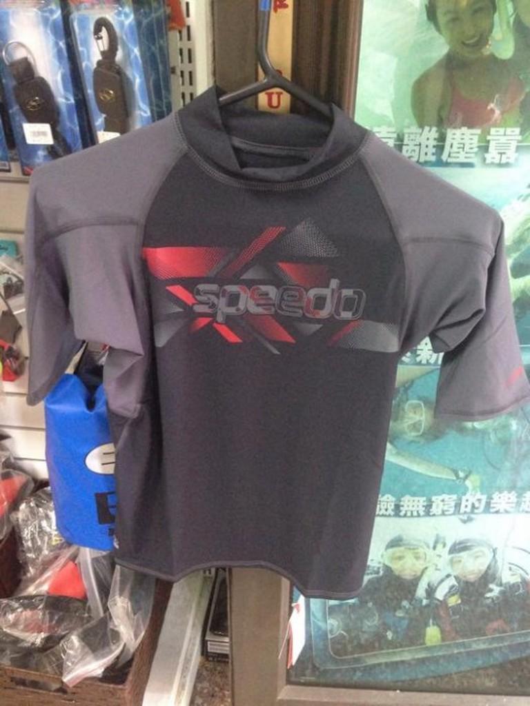 台灣潛水---SPEEDO 短袖上半身防曬衣/水母衣 黑