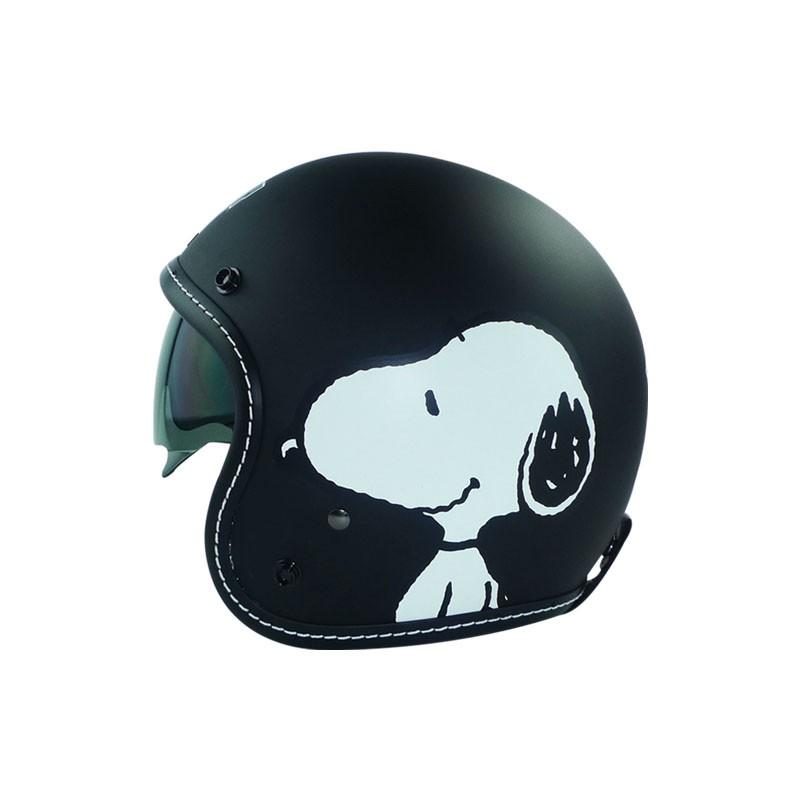 華泰 史努比 側臉 墨鏡騎士帽 小帽體 3/4 半罩式安全帽 內墨鏡 內襯全可拆 SNOOPY