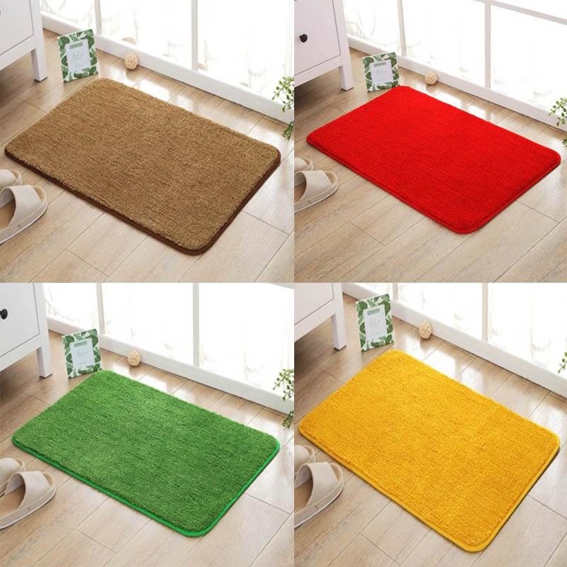 ❆新年❆喜慶地墊❆現貨 家用金黃色門口進門地墊臥室門廳大紅色喜慶地毯浴室草坪綠色腳墊