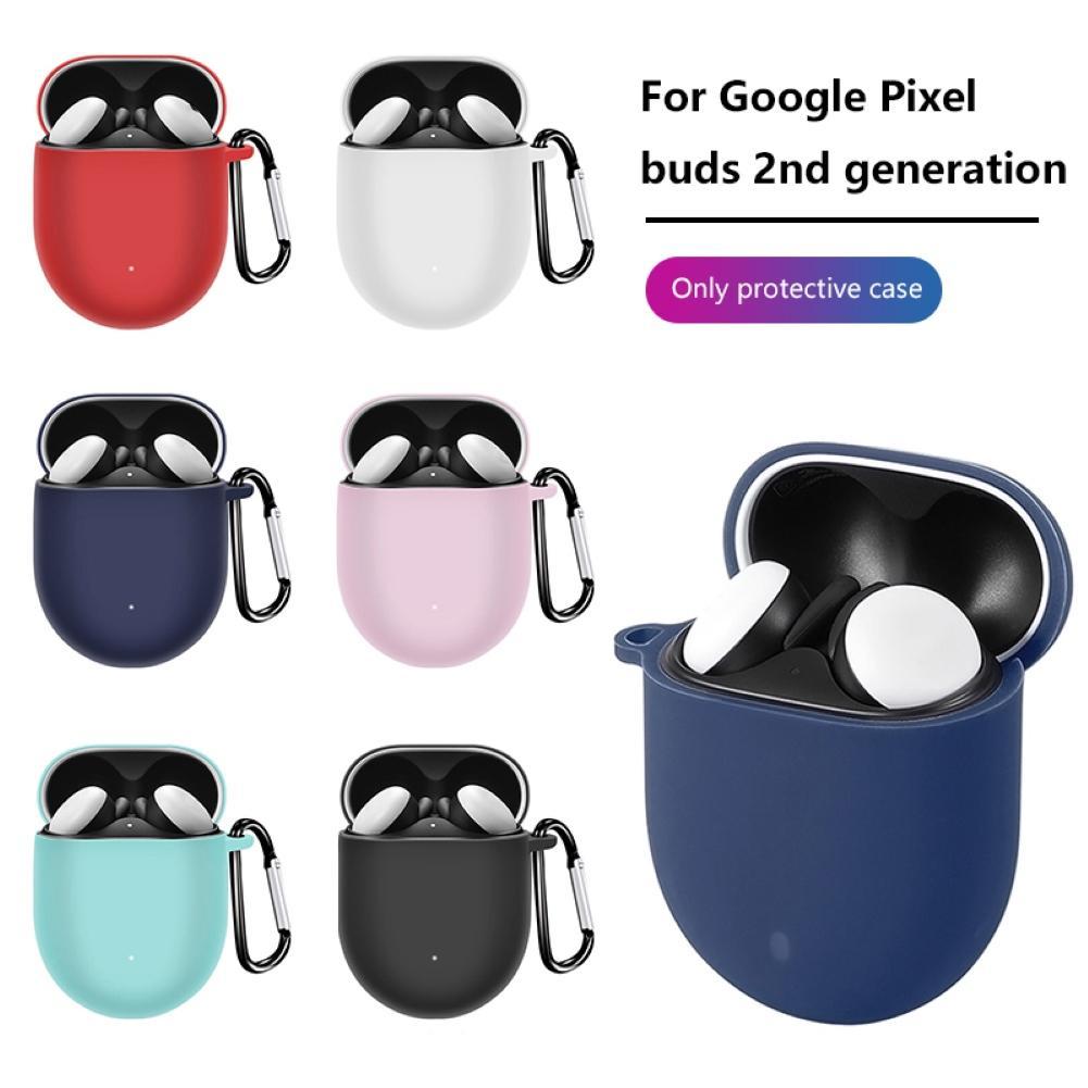 適用於Google Pixel buds 2 軟硅膠防刮花保護套 谷歌Buds 2耳機套帶掛鉤