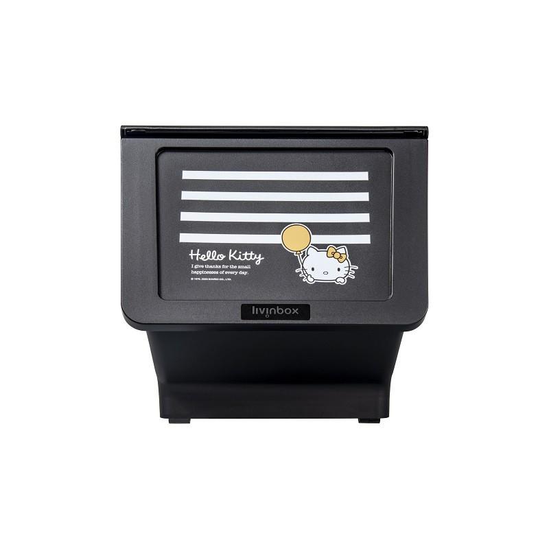 完美主義│白條紋黑底Kitty大嘴鳥整理箱23L(1入) MIT台灣製 樹德 收納櫃 收納 衣櫃 玩具收納【R0196】
