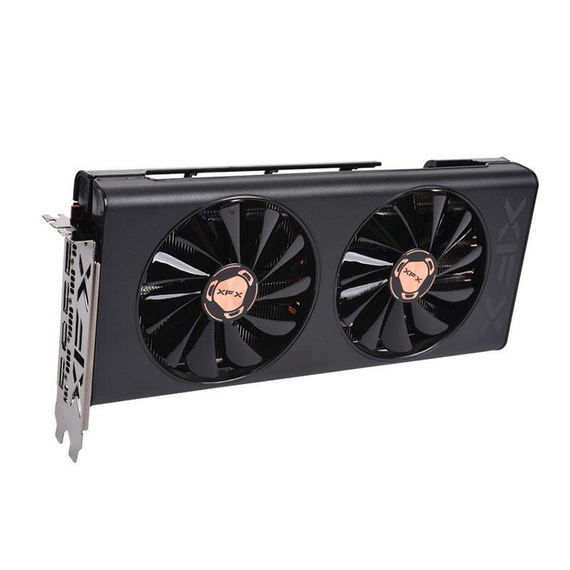 現貨 XFX訊景RX5500XT 5600XT 8G黑狼游戲顯卡獨立非公AMD吃雞電競新