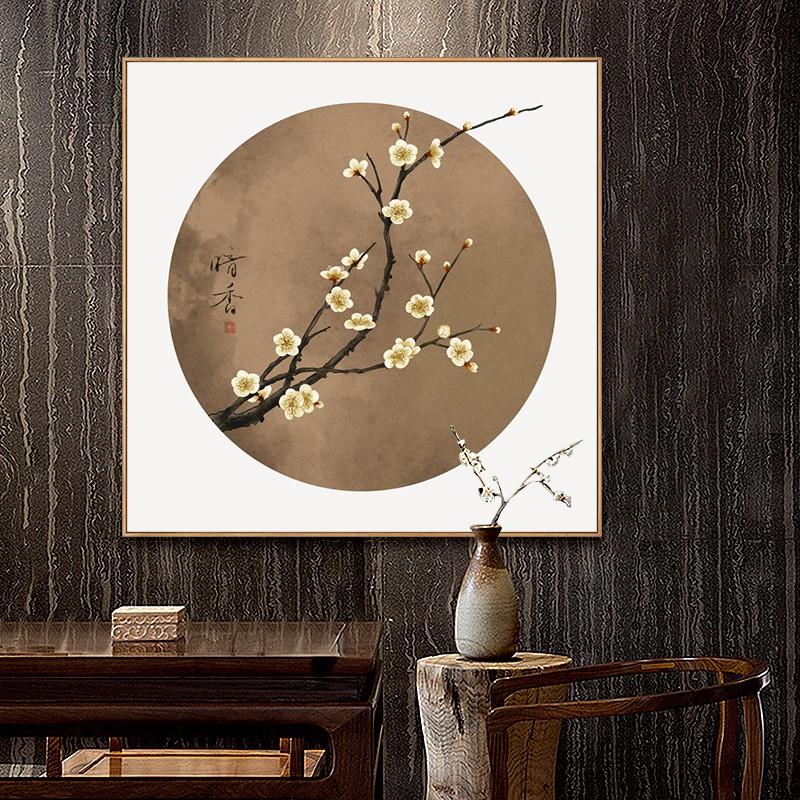 【熱銷】新中式梅花裝飾畫中國風掛畫進門玄關畫餐廳飯廳花鳥國畫客廳壁畫
