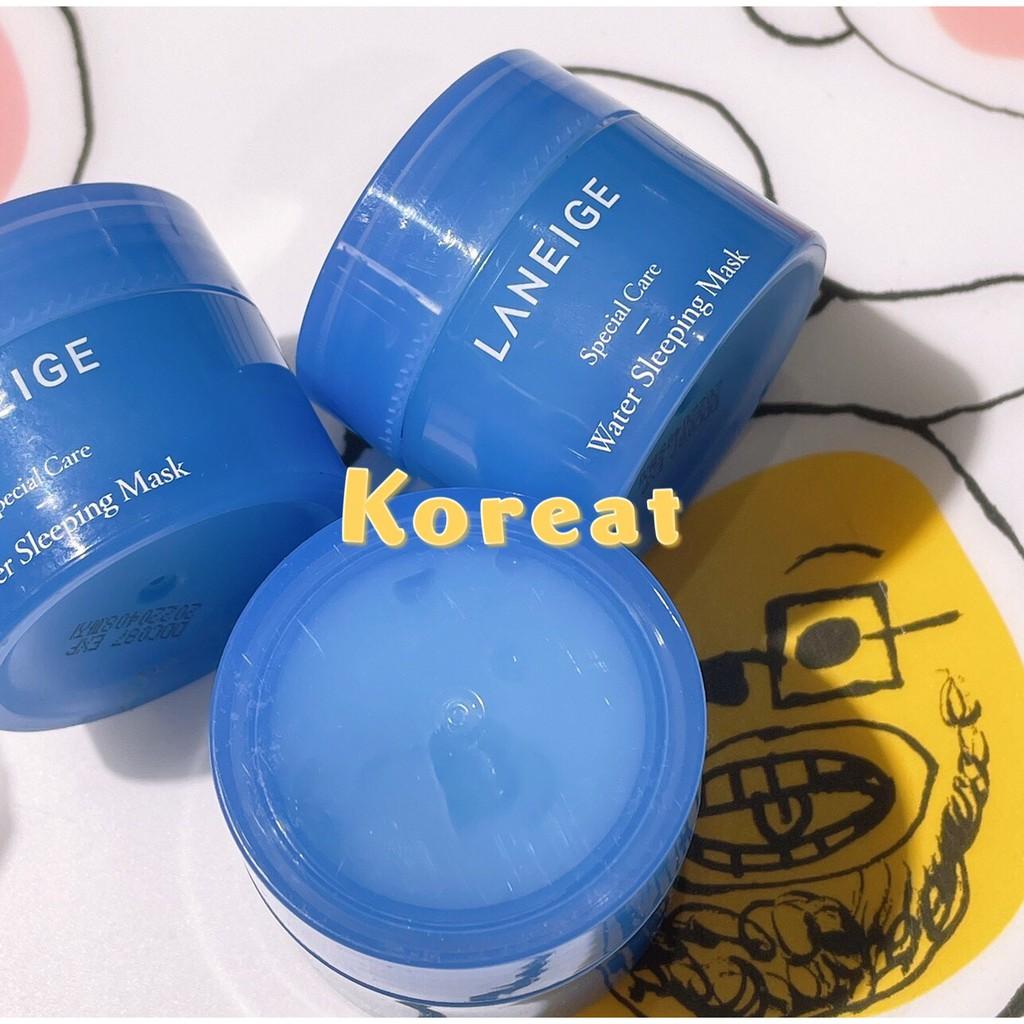 韓國蘭芝Laneige晚安凍膜15m、唇膜3ml