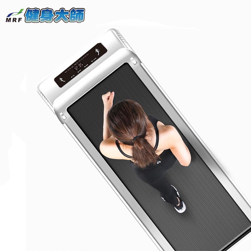 健身大師-銀色獵物雕塑型平板跑步機