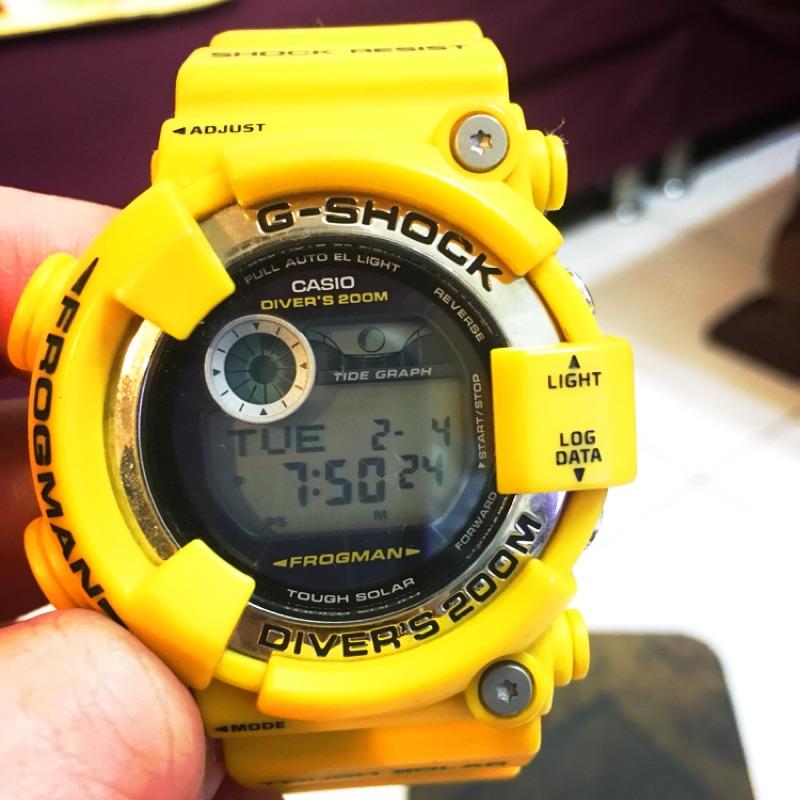 卡西歐 G-shock GF-8250-9 FROGMAN 黃蛙 蛙王 蛙人 專業潛水錶