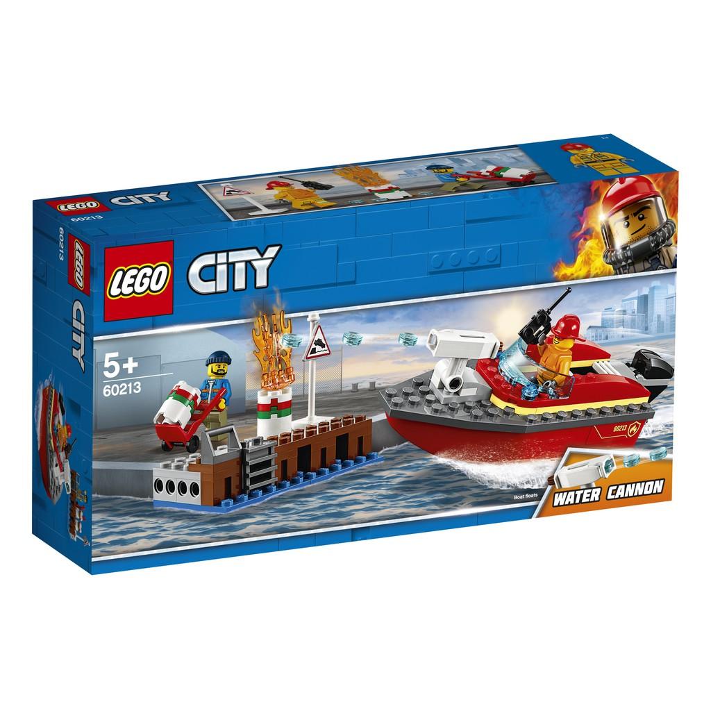 【周周GO】 樂高 LEGO  60213   City Fire   碼頭火災