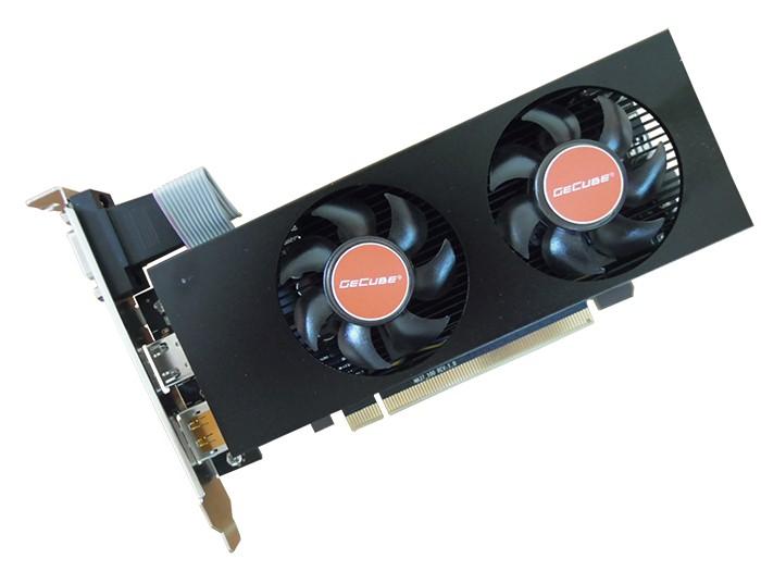 RX560刀卡顯卡-2G GDDR5顯存、SFF雙風扇設計、VGA+DP+HDMI三屏顯