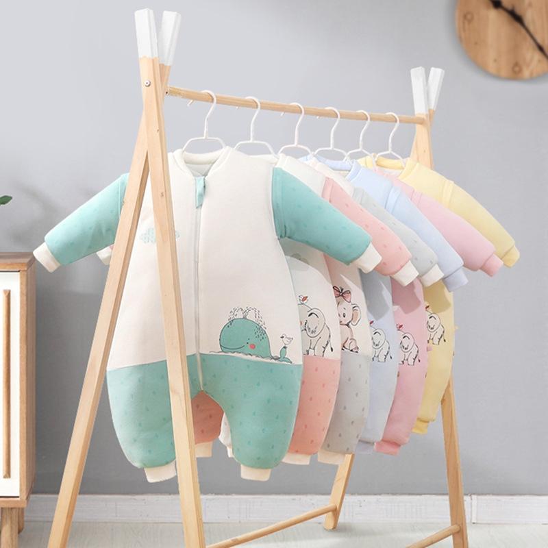 嬰兒睡袋秋冬保暖加厚防踢被純棉大童分腿睡袋
