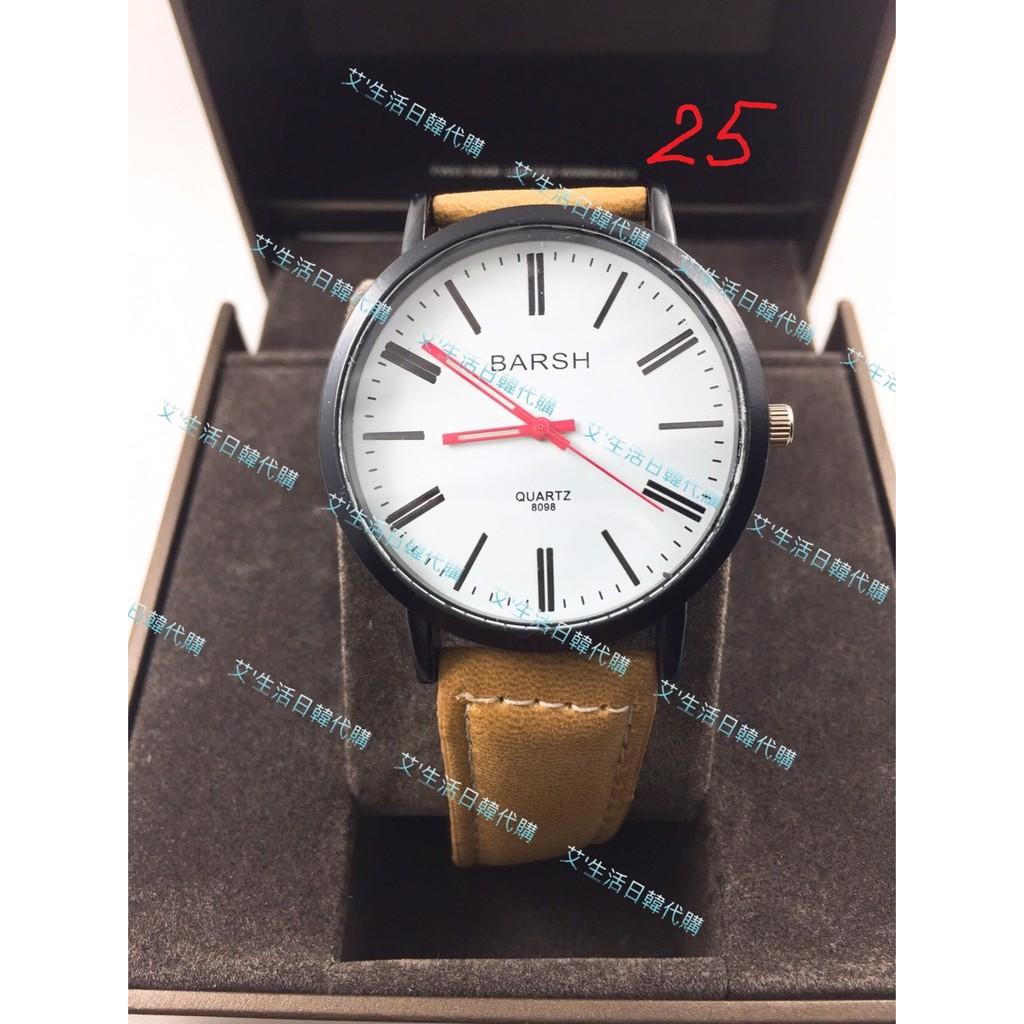 現貨 韓國BARSH經典羅馬刻度皮帶手錶