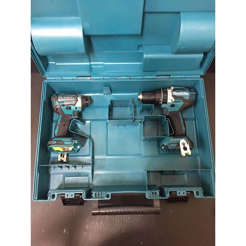 高雄二手工具王(三多店)全新 含箱子 牧田 美規 雙機組 DTD154 DHP484 無刷 衝擊起子 震動電鑽