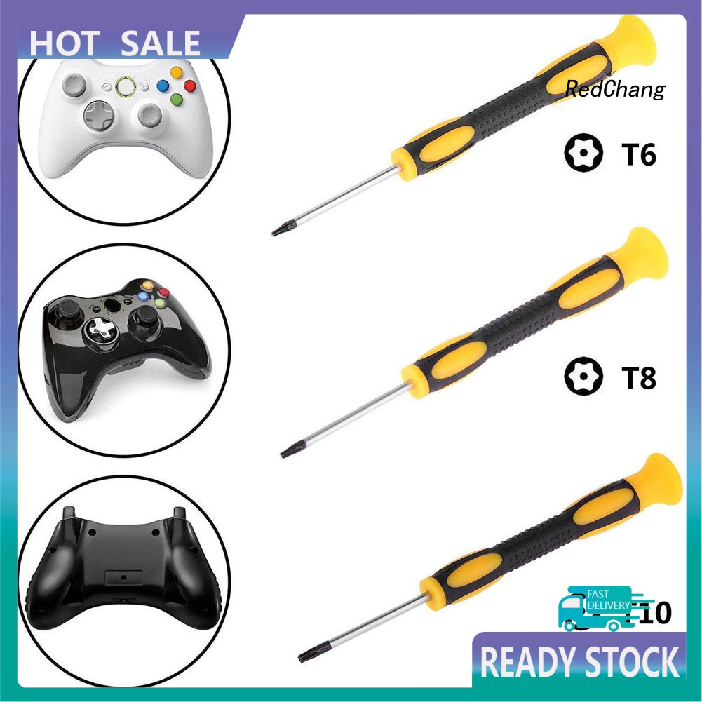 用於 Nintendo Xbox 360 PS3 / PS4 控制器的 T6 T8 T10 遊戲螺絲刀維修工具\ YXP