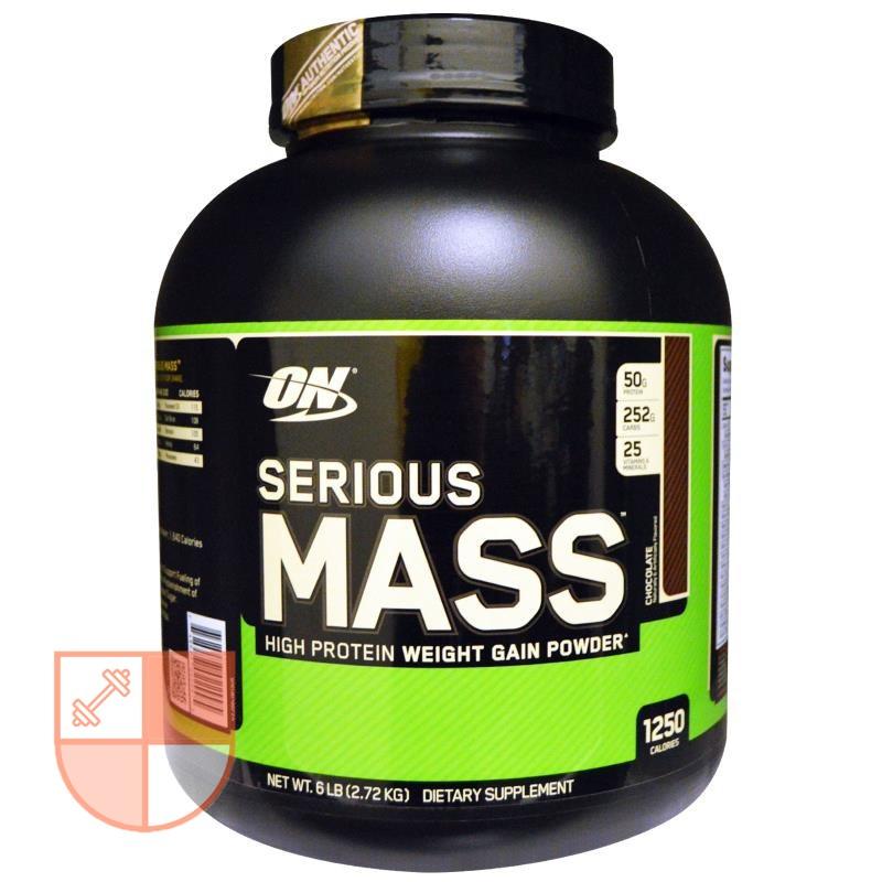 【林館長】美國 推薦ON serious mass高熱量 乳清蛋白 增重 增肌 巧克力味 6磅