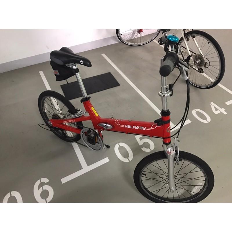 9成新 捷安特折疊腳踏車GIANT HALFWAY 7S W