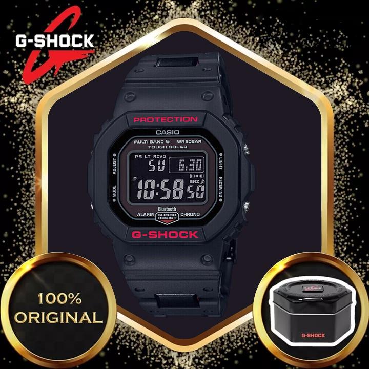 Jam TANGAN LELAKI 原裝 G-Shock DW5600 男士運動石英手錶 GW-B5600HR-1
