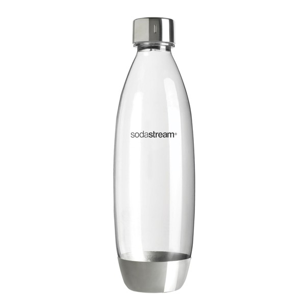◤A級福利品‧數量有限◢  Sodastream 金屬水滴寶特瓶1L- 1