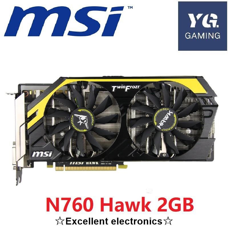 Msi 顯卡 N760 Hawk 2gb 256bit Gddr5 Gtx 760 視頻卡, 用於 Nvidia Vga