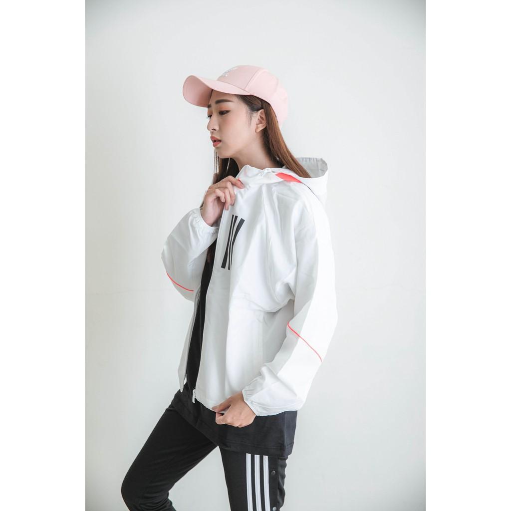 【小迷妹】Adidas 愛迪達 WND 防風外套 運動外套 白色 女 GF0131