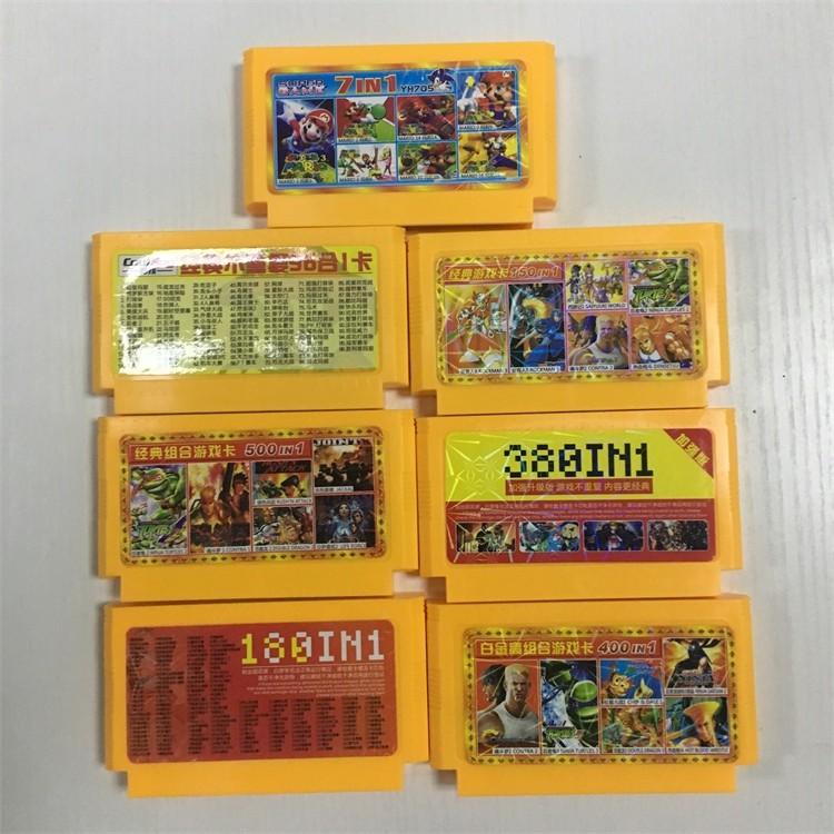【好貨】任天堂紅白機遊戲卡7合1 150合1  380合1  400合1 500合1 經典懷舊遊戲不重 超級瑪麗 魂鬥羅