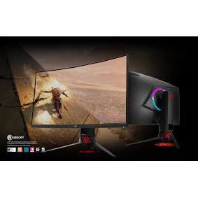 含發票ASUS 31.5吋ROG Strix XG32VQ電競寬螢幕 1800R曲面低藍光不閃屏
