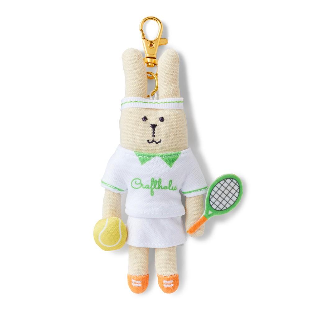 CRAFTHOLIC 宇宙人 網球選手兔吊飾 (限定款)
