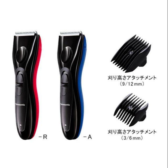 日本 Panasonic ER-GC10 理髮器 可水洗 附兩刀頭 藍黑 紅黑 二色 現貨供應