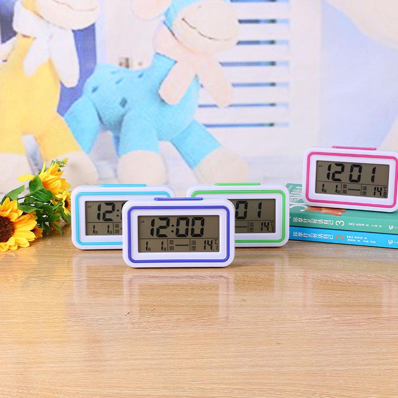 LCD溫度語音報時鐘 大屏幕貪睡電子鐘學生電子時鐘掛鐘鬧鐘