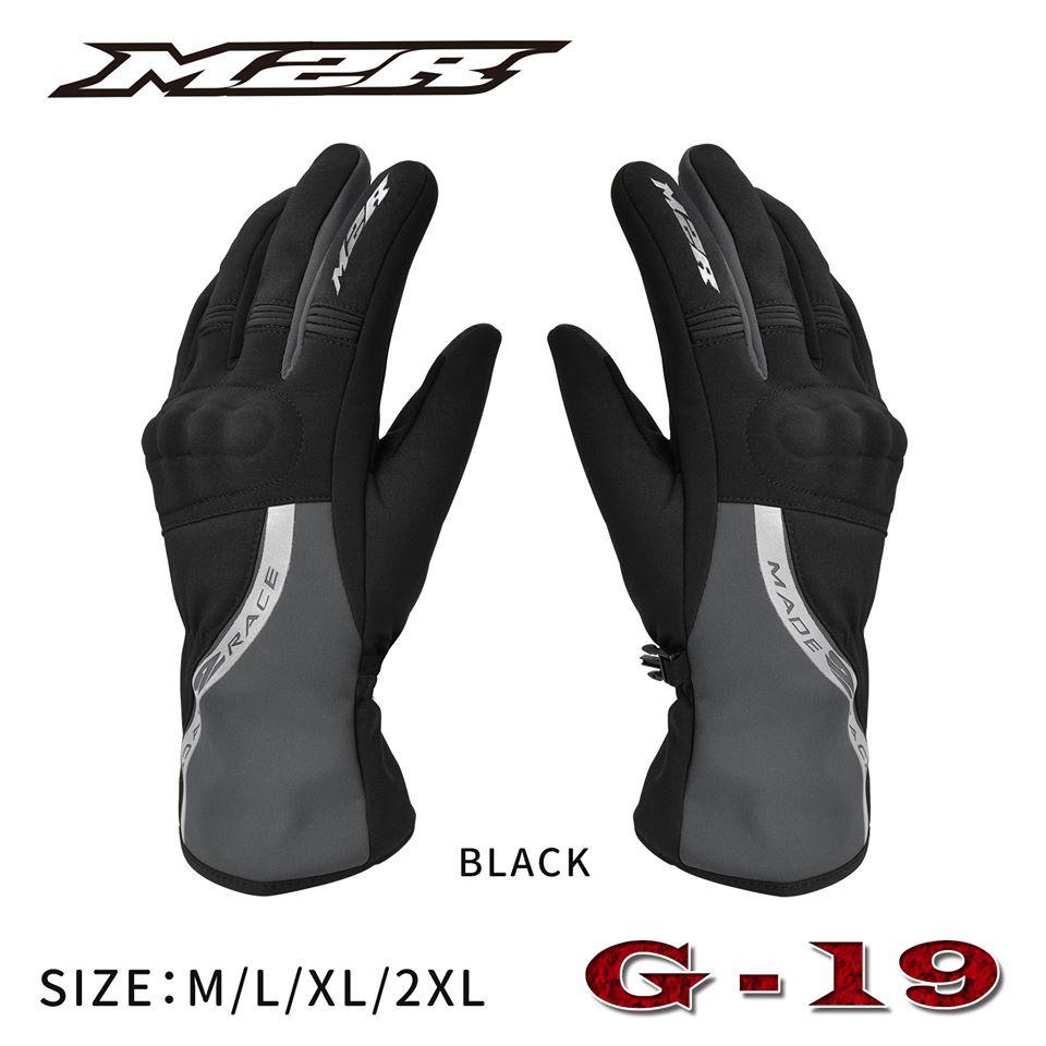 M2R G19  黑 防水防摔手套 可觸控 防水 冬季 防寒 防風 保暖 長版 手套