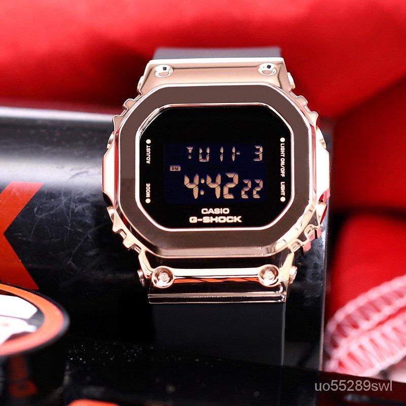 新款卡西歐G-SHOCK金屬小方塊防水手錶GM-S5600-1/S5600PG-4/SK/SK-7 feOs