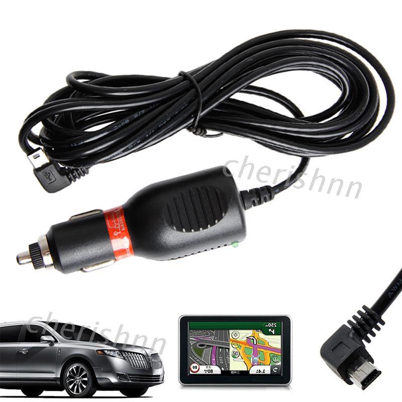 車整車直流電源充電器適配器電源線迷你USB電纜GARMIN GPS努維1.5A