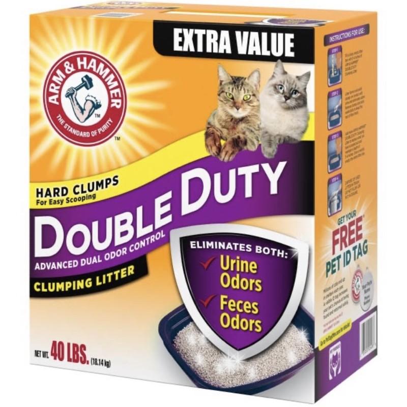 貓砂 礦物砂 Arm&Hammer 鐵鎚牌加強除臭貓砂 18.14公斤 40磅 鐵鎚牌貓砂 好市多貓砂