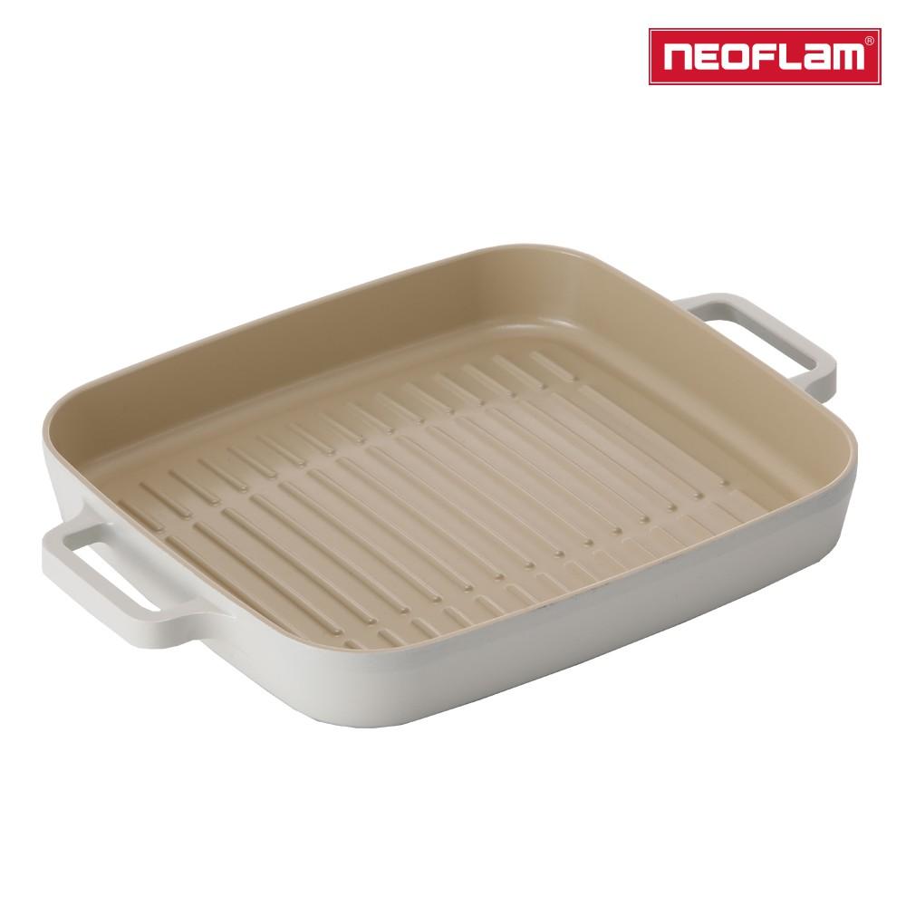 NEOFLAM FIKA系列 28cm 鑄造不沾方形烤盤(IH、電磁爐適用) 2020全新上市