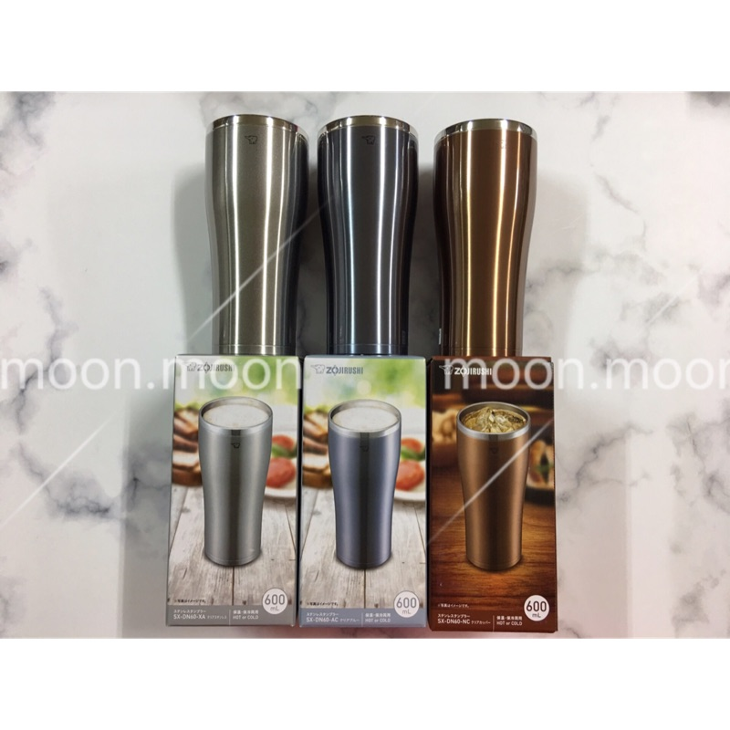[新品上市] 象印 0.6L 不鏽鋼真空保溫杯(SX-DN60) 另可加購防塵蓋