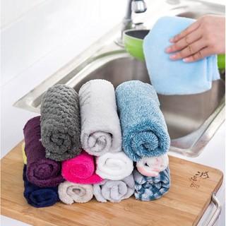 超柔軟洗碗巾 抹布 多功能植物纖維百潔布不沾油毛巾洗碗布 25X25CM纖維抹布 不沾油抹布 炫彩洗碗布  柔軟擦 臺南市