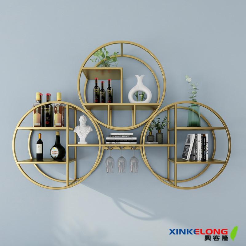 興客隆 置物架 書架 牆壁置物架 壁掛 收納 鐵藝置物架 酒架 創意 生活 層架