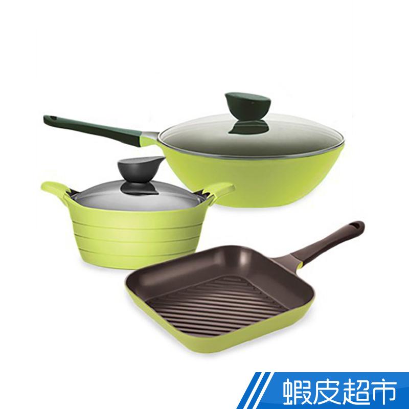 韓國NEOFLAM EELA系列陶瓷不沾鍋具三件組 免運 廠商直送 現貨