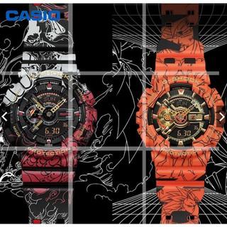 【現貨】casio 腕錶 卡西歐G-SHOCK 七龍珠 海賊王 路飛聯名款限量款手錶男GA-110JOP-1A4