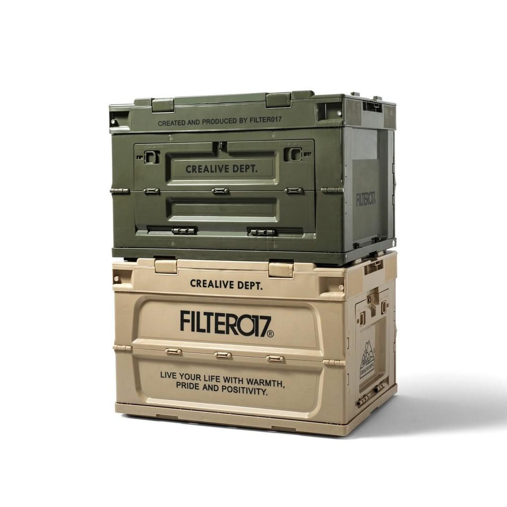 Filter017 Portable Folding Storage Container 側開摺疊收納箱 (M)