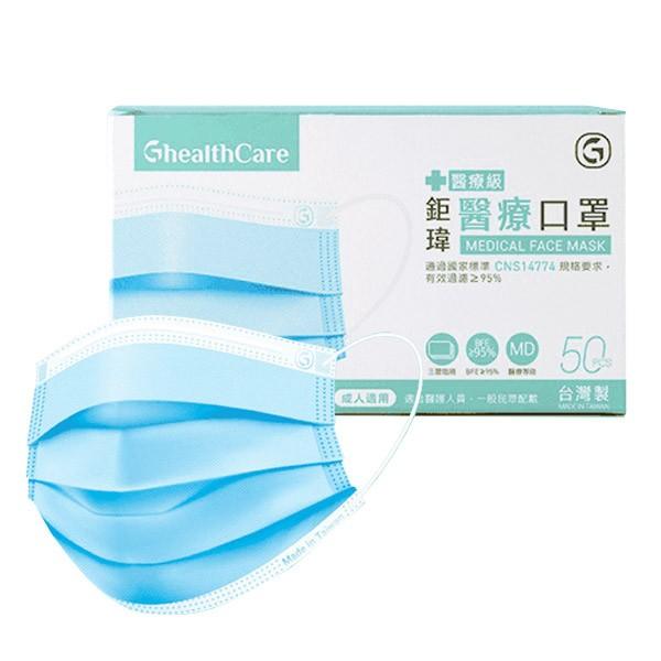 【現貨秒出】鉅瑋 醫療口罩 (50片/盒) 醫用口罩 MD雙鋼印  符合CNS 台灣製