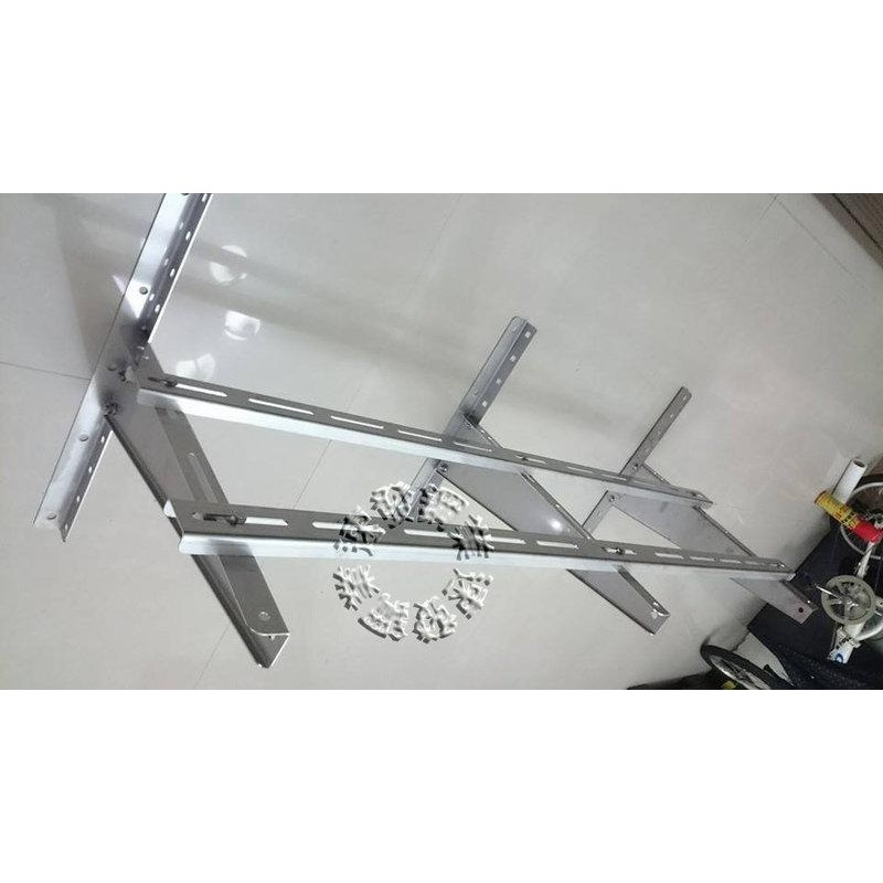 速發鋼業~多腳式超寬敞型厚豪華安裝架~橫向安裝不鏽鋼正白鐵304冷氣室外機安裝架豪華組合架(中小) 冷氣架分離式