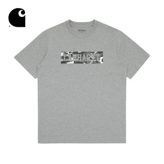Carhartt WIP男裝迷彩圓點方型LOGO字母印花短袖T卹62034X8