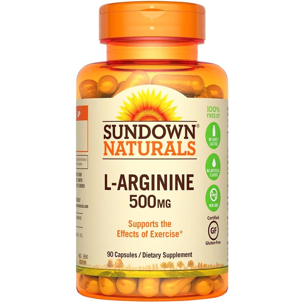 全新公司貨Sundown 日落恩賜特極精胺酸90粒/瓶一氧化氮左旋精胺酸L-Arginine 左旋精氨酸