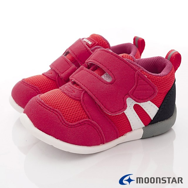 日本月星Moonstar機能童鞋 HI系列 3E穩定款 1113紅(寶寶段)
